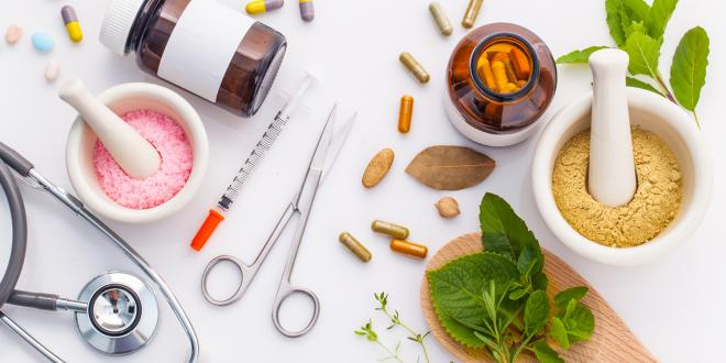 prescription medications and natural herbs
